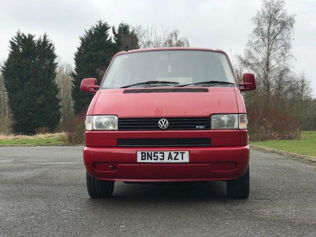 2a9da2f57f Red 2003 VW T4 SWB Camper van. Huntingdon