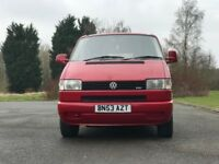 Red 2003 VW T4 SWB Camper van