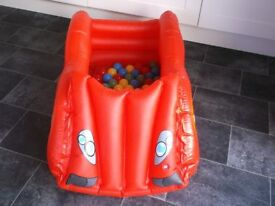 Race Car Ball Pit with complete set of balls, made by Chad Valley