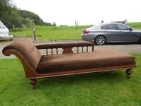 A Beautiful Chaise Longue With Wheels