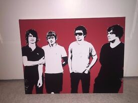 Arctic Monkeys Canvas Wall Art (12' x 16' x 1')