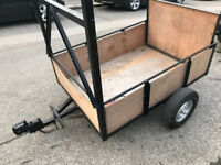 Great little box trailer with fold down ramp + lights - Metal frame easy to move - size 5ft x 3.6ft