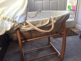Mamas and papas rocking Moses basket stand