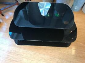 Black Glass TV Table RRP £200