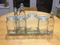 Assorted Kilner Jars and bottles