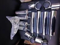 Black Glass 3 Tier TV Stand Shelving Unit Shelf Storage Cabinet Metal Chrome Reinforced Wheeled Legs