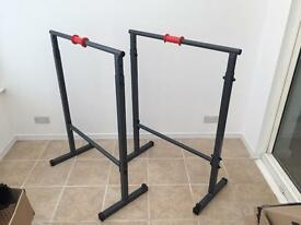 Parallette workout bars - dipping station