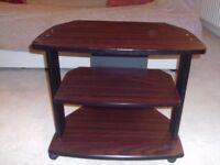 TV Unit / Corner Stand - mahogany effect, sturdy