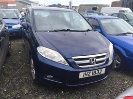 2005 Honda Fr-v Sport, 2.2 Diesel, Breaking for parts only, All parts available