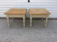 Pine Side/Lamps Tables -Pair-Collect from Tittleshall