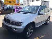 bmw x5 silver 2004 good condition hpi record clear!!