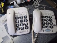 TWO BT Big Button Phones - in excellent condition