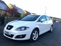 2011 Seat Leon S Emocion CR TDi 1.6 Diesel £20 Tax Long Mot. Looks & Drives Superb! White