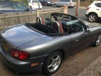 Mazda MX-5 for sale, silver (2002) only £1000! Long MOT and Service, four new tyres!