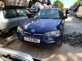 2003 Nissan Almera S 5dr 1.5 Petrol Blue BREAKING FOR SPARES