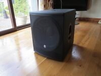 Mackie SRM1801 - 18˝ Powered Subwoofer Speaker - Used once! Includes SPM200 Speaker Pole,