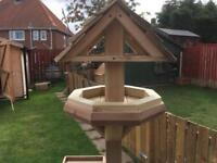 Wooden garden bird table with free local delivery