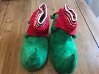 Novelty Elf Slippers - Adult Male Size 11