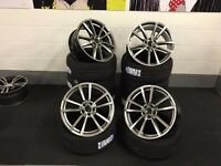 "18"" VW STYLED ALLOYS WHEELS + TYRES PRETORIA GOLF R R32 GTD GTI PASSAT BORA TOURAN SEAT S3 AUDI"