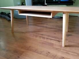 Large Vintage Retro Style Debenhams Danish inspired Teak Style Scandi Style Coffee Table TV Stand