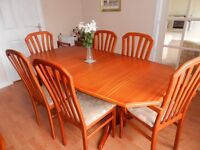 dining table 6 chairs 2 units