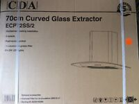CDA 70cm curved glass extractor