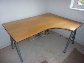 Ikea Galant Corner Desk in Beech Finish