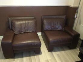 Real leather sofa ( split in 2 )