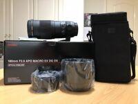 Sigma 180mm F2.8 APO MACRO EX DG OS for CANON. NEW