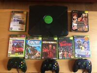 Retro original Xbox w/ 3 controllers + 9 games (inc. GTA trilogy)