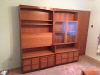 Set of three Nathan Teak Cabinate/Dresser/Corner piece in very good condition