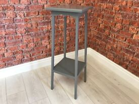 Wooden Plant & Lamp Table