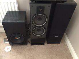 Mordaunt Short model MS55T1 Series 2 floor standing speakers.