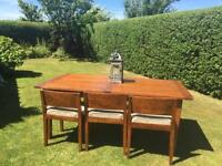 Barker and stonehouse table and 6 chairs - solid wood