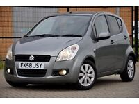 2008 Suzuki Splash 1.2 GLS+ 5dr+AUTOMATIC+LOW MILEAGE+12 MONTHS MOT+1 FORMER KEEPER+CHEAP TO RUN
