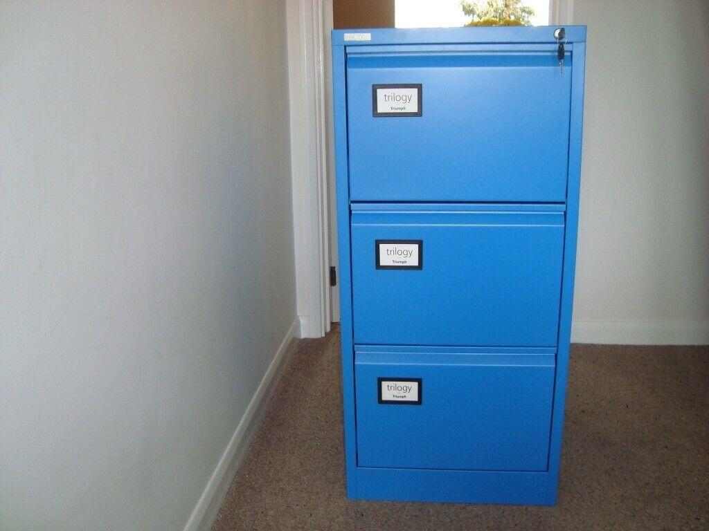 buy popular 374f3 54930 Brand New 3 drawer Filing Cabinet. Triumph Trilogy Design in Glas Blue  colour   in Kings Lynn, Norfolk   Gumtree