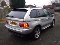 2001 BMW X5 SPORT,3.0 D,7 MONTHS MOT,SERVICE HISTORY,SAT NAV,PARKING SENSORS,HPI CLEAR,NEEDS TLC ...