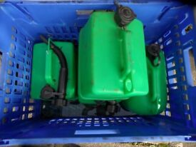 Plastic petrol fuel can 5 litre green