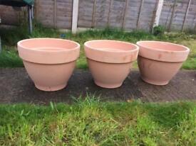 Stunning terracotta garden plant pots