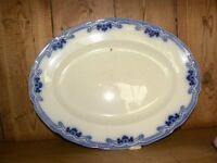 Antique Blue and White Serving Dish.