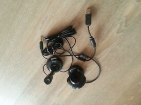Webcams & microphone to sale in good condition at £5 only