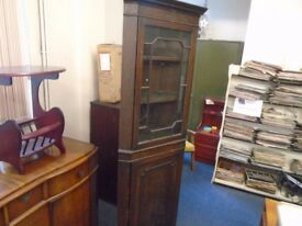 dark wood vintage corner unit.