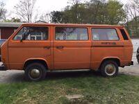 1982 Orange VW Camper