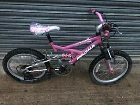 "Megna Flower 18"" Wheel Full Suspension Bike. Serviced, Good Condition. Free Local delivery."