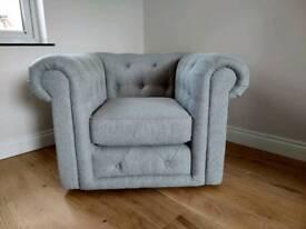DFS Thelma Grey Armchair NEW