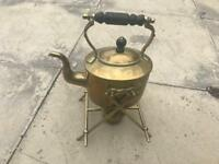 Antique brass kettle