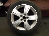 vauxhall vectra C 03-08 signum 17 ins alloy wheel needs tyre 215/50/17