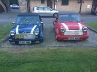 Classic mini convertibles £7500