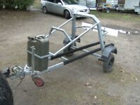 GALVANISED JET SKI TRANSPORTER ROAD TRAILER WITH WINCH /JERRY /LIGHTS ETC...