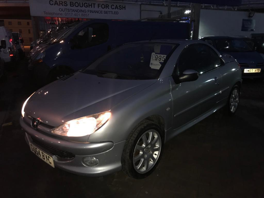 54 PEUGEOT 206 CC CONVERTIBLE HARDTOP CHEAP BARGAIN CAR SUPERB DRIVE LONG MOT ROOF WORKS READY TO GO